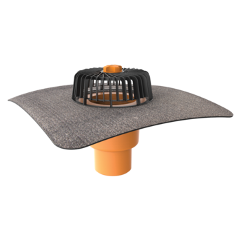 Svislá střešní vpust s integrovanou bitumenovou manžetou