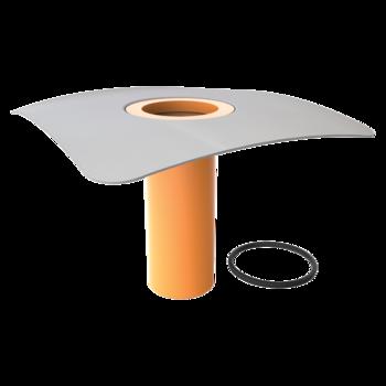 Nástavec střešní vpusti s integrovanou PVC manžetou  PVC manžeta