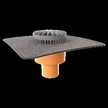 Svislá terasová vpust s integrovanou bitumenovou manžetou