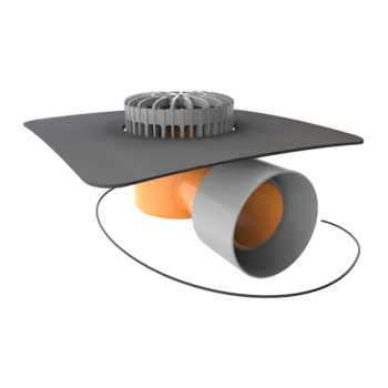 Prostup pro kabely 24 mm s integrovanou PVC manžetou  prostup pro kabely 24 mm