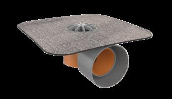 Sanační vpust pro nezateplené střechy s integrovanou bitumenovou manžetou  pro nezateplené střechy