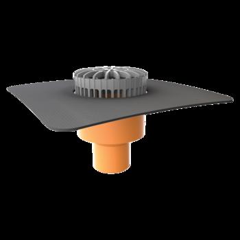 Svislá terasová vpust s integrovanou manžetou na zakázku