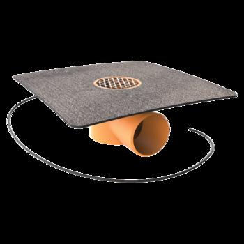 Prostup pro kabely s integrovanou PVC manžetou  prostup pro kabely