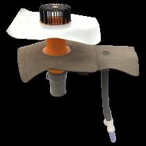 Prostup parozábranou s integrovanou manžetou na zakázku  prostup parozábranou