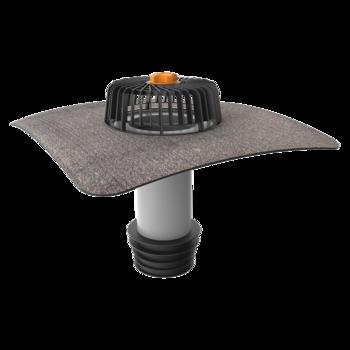 Svislá vyhřívaná terasová vpust s integrovanou PVC manžetou  svislá vyhřívaná