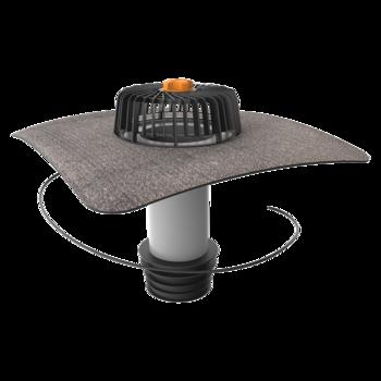 Svislá vyhřívaná sanační vpust s integrovanou bitumenovou manžetou  svislá vyhřívaná