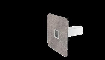 Pojistný přepad hranatý s integrovanou bitumenovou manžetou