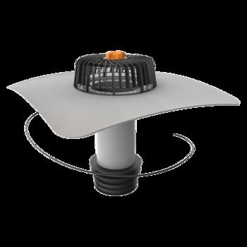 Vodorovná terasová vpust s integrovanou manžetou na zakázku  vodorovná