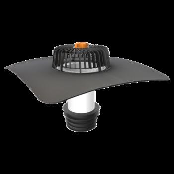 Sanační vpust pro nezateplené střechy s integrovanou manžetou na zakázku