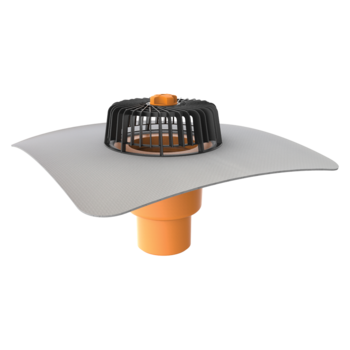 Svislá střešní vpust s integrovanou PVC manžetou  svislá