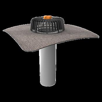 Jednostěnná střešní vpust s integrovanou bitumenovou manžetou