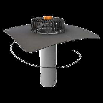Jednostěnná vyhřívaná střešní vpust s integrovanou manžetou na zakázku  jednostěnná vyhřívaná vpust