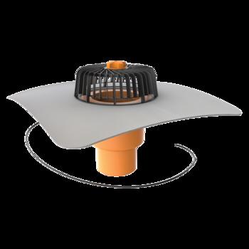 Svislá vyhřívaná střešní vpust s integrovanou PVC manžetou  svislá vyhřívaná