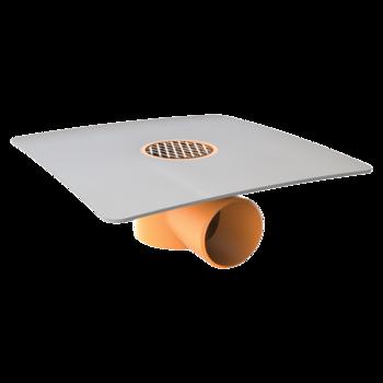 Jednostěnná střešní vpust s integrovanou bitumenovou manžetou  jednostěnná vpust