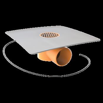 Jednostěnná vyhřívaná střešní vpust s integrovanou bitumenovou manžetou  jednostěnná vyhřívaná vpust