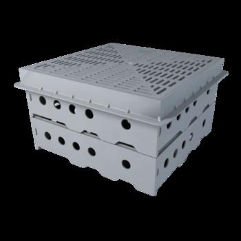 Vodorovná balkónová vpust s integrovanou bitumenovou manžetou  vodorovná