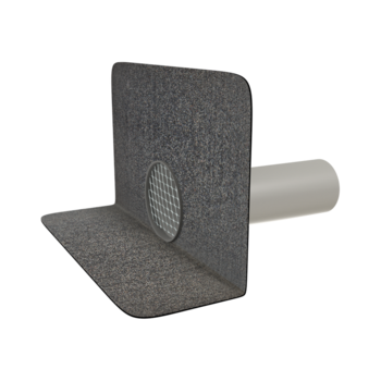 Svislá vyhřívaná balkónová vpust s integrovanou PVC manžetou  svislá vyhřívaná