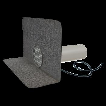 Vodorovná balkónová vpust s integrovanou PVC manžetou  vodorovná