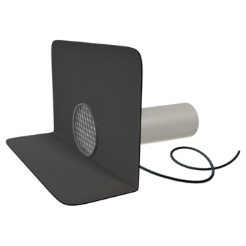 Chrlič kulatý vyhřívaný s integrovanou manžetou na zakázku