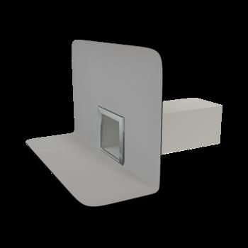 Chrlič hranatý s integrovanou PVC manžetou  chrlič hranatý
