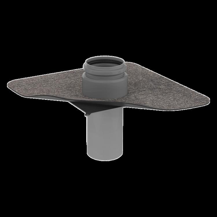 Prostup parozábranou s integrovanou bitumenovou manžetou prostup parozábranou
