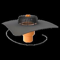 Svislá vyhřívaná střešní vpust s integrovanou manžetou na zakázku