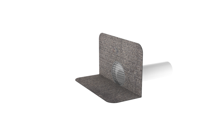 Odvětrání kanalizace XL s integrovanou bitumenovou manžetou odvětrání kanalizace XL
