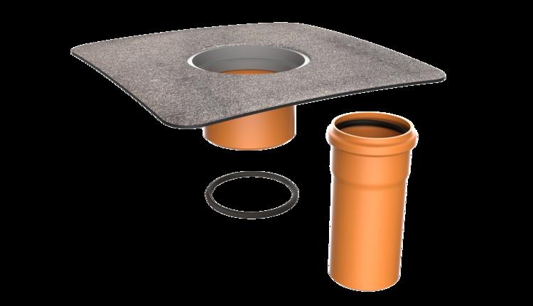 Nástavec terasové vpusti s bitumenovou manžetou