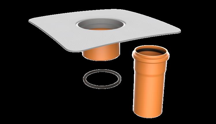 Nástavec terasové vpusti s integrovanou PVC manžetou
