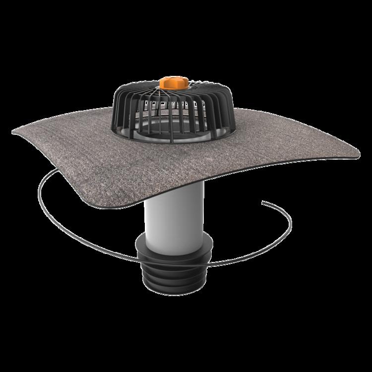 Svislá vyhřívaná sanační vpust s integrovanou bitumenovou manžetou