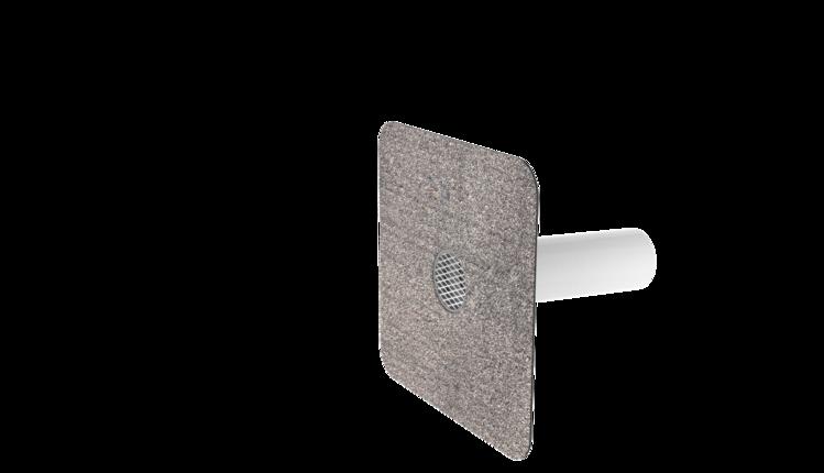 Pojistný přepad kulatý s integrovanou bitumenovou manžetou