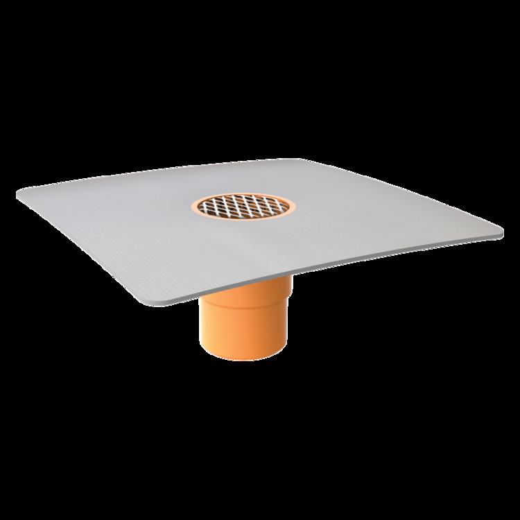 Svislá balkonová vpust s integrovanou PVC manžetou svislá