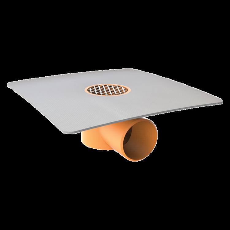 Vodorovná balkonová vpust s integrovanou PVC manžetou vodorovná