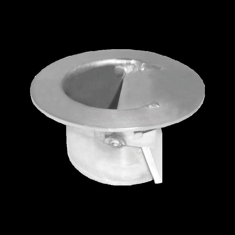 Jednostěnná střešní vpust pro nezateplené střechy s integrovanou manžetou na zakázku pro nezateplené střechy