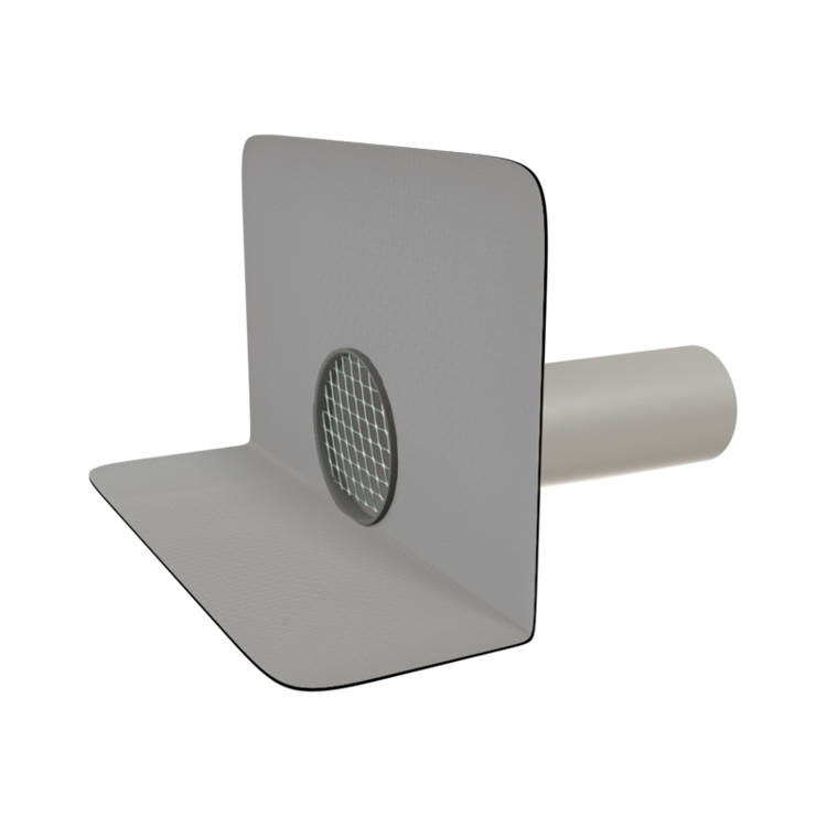 Svislá balkónová vpust s integrovanou manžetou na zakázku svislá