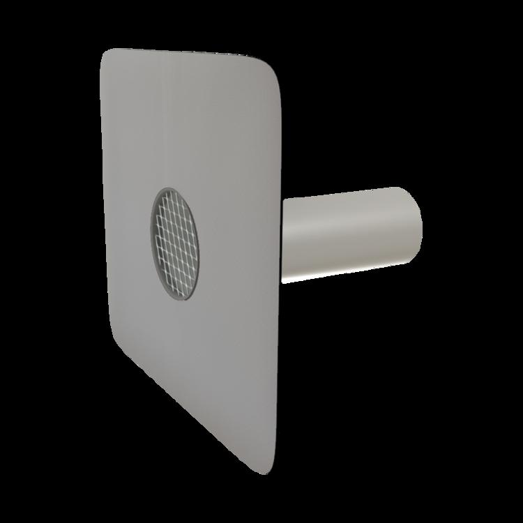 Vodorovná balkónová vpust s integrovanou manžetou na zakázku vodorovná