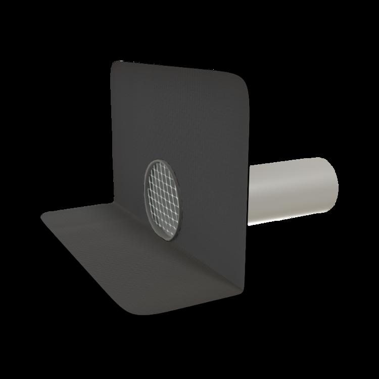 Vodorovná vyhřívaná balkónová vpust s integrovanou manžetou na zakázku vodorovná vyhřívaná