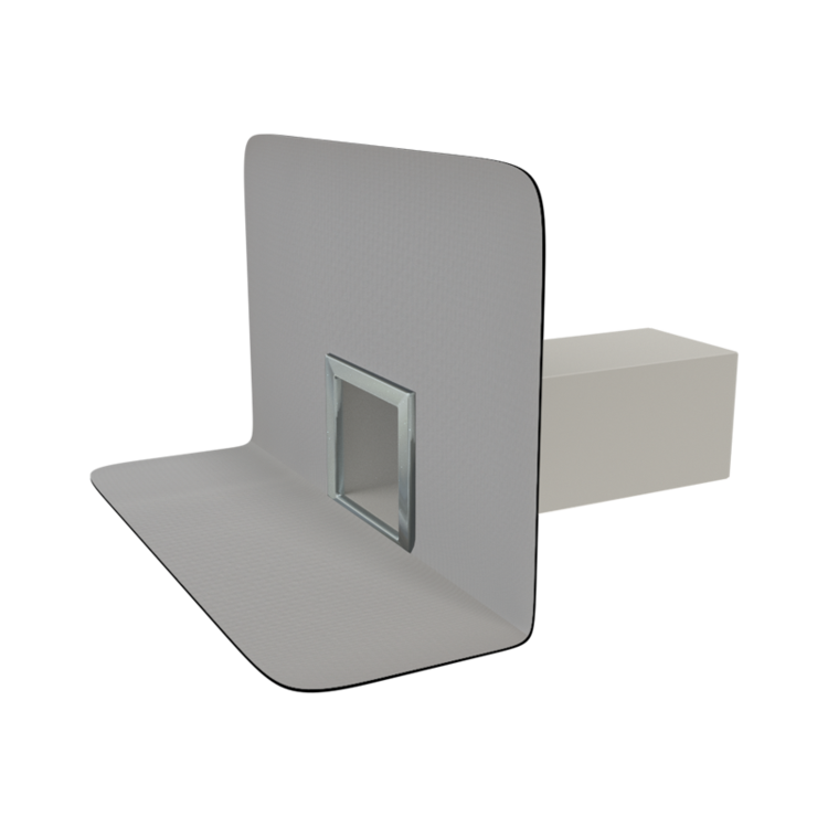 Vodorovná podlahová vpust s integrovanou manžetou vodorovná